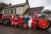 Tractor Tinsel Run Towy Valley Vintage Club 17th Dec 2016